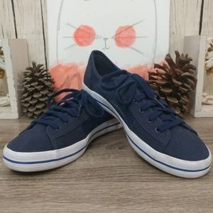 Keds Navy mesh and canvas shoes size 9